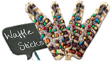 Waffles on Stick Lolly Machine Hire